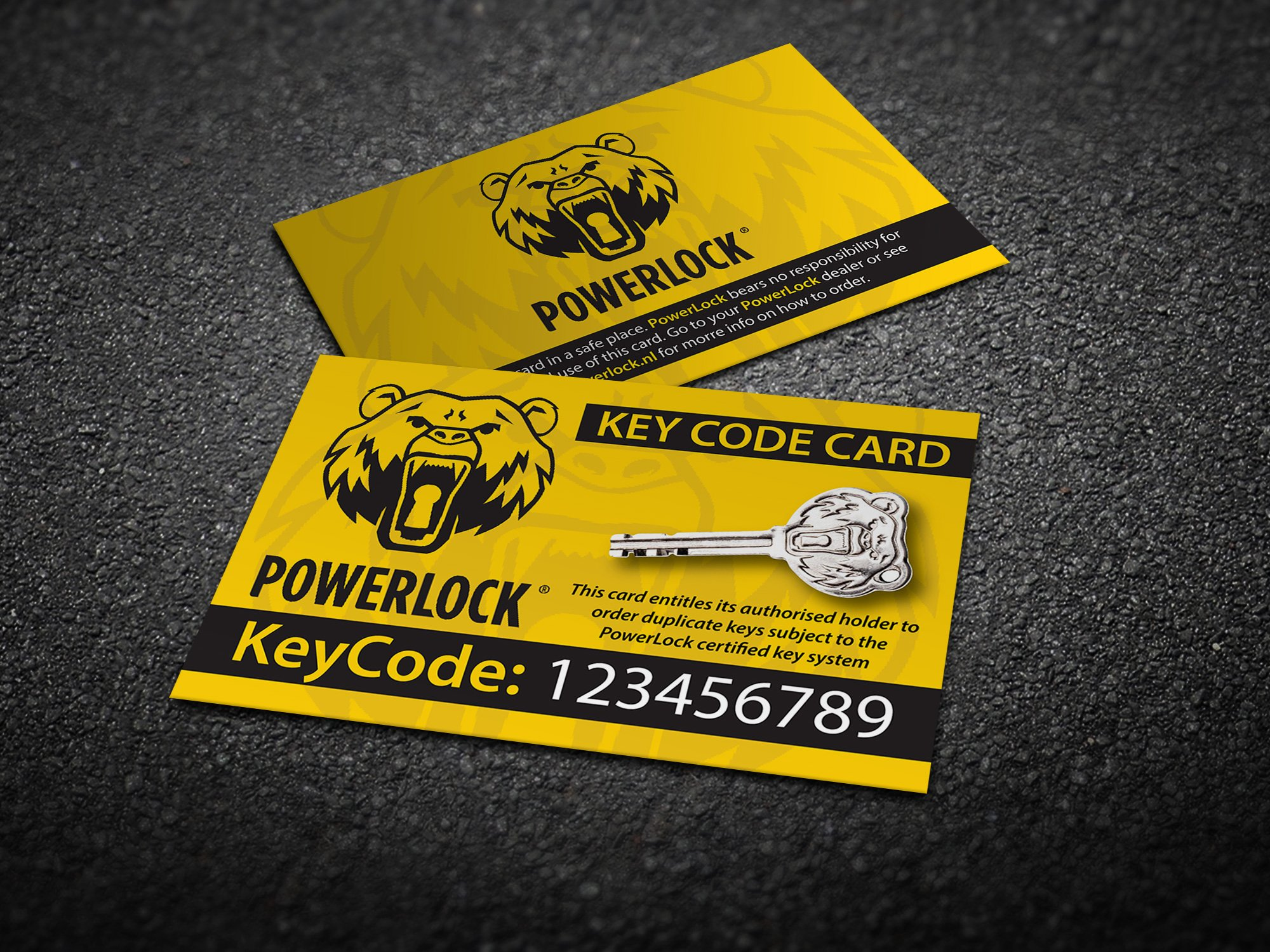 PowerLock Security Cards